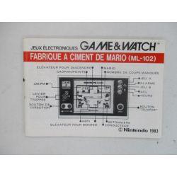 manual game & watch...